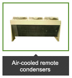 Air-cooled remote condensers